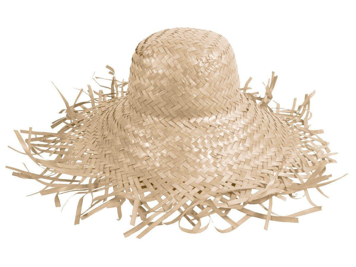 Cappello di paglia, paglietta in stile hawaii unisex in paglia accessorio carnevale travestimento fe...