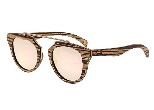1997d9c56c Amazon.com  Earth Wood Ceira Wood Sunglasses Polarized Cateye ...