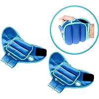 gymenist preponderado al guantes Par de muñequeras Guante con agujeros para pulgar y el dedo disponible en 1Lb o 2lb Conjunto de 2Formación Peso Guantes