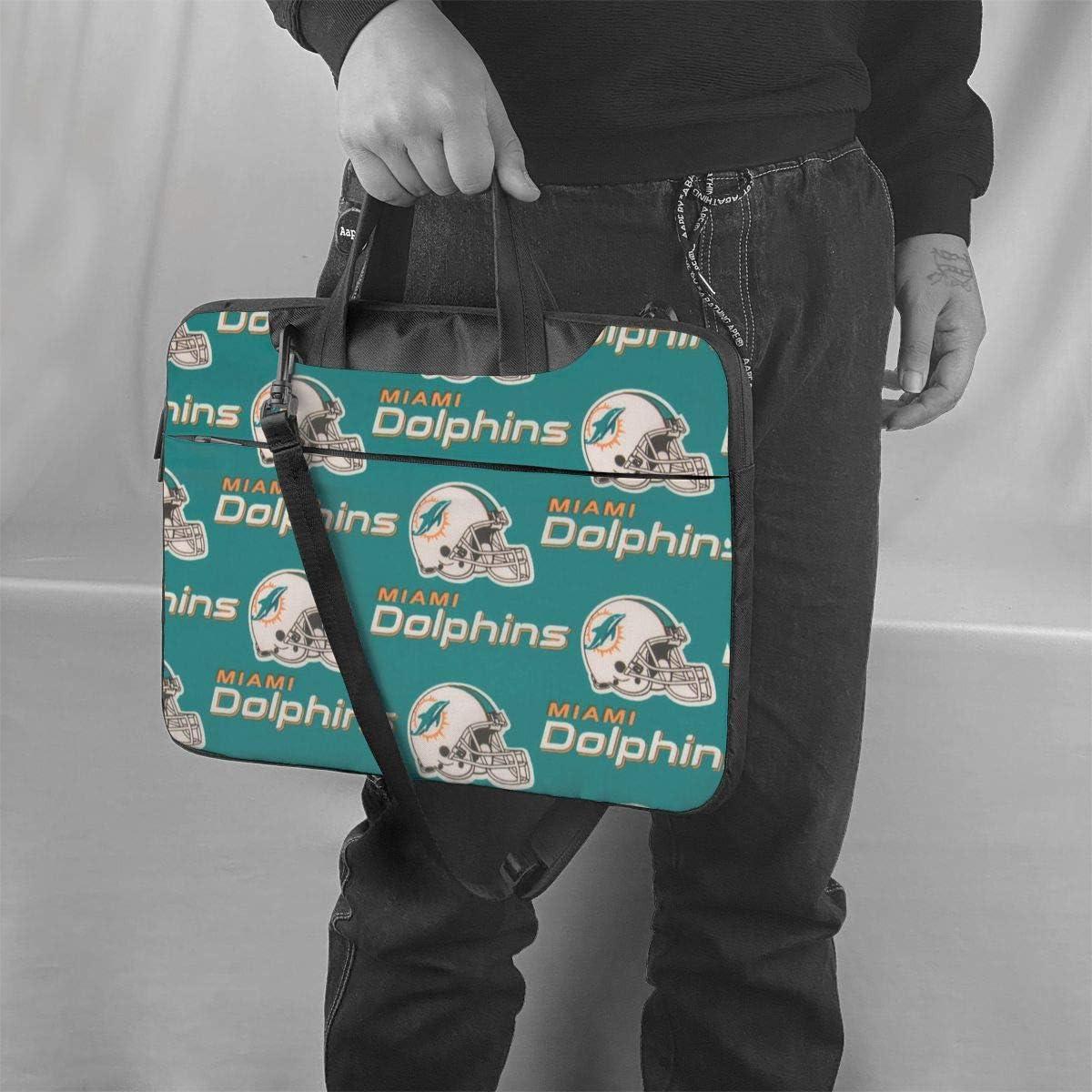 ALHOKLAus Mia-mi Dol-phins Stylish Customized Laptop Bag, Portable Shoulder Bag, Crossbody Bag and Briefcase (3 Sizes)