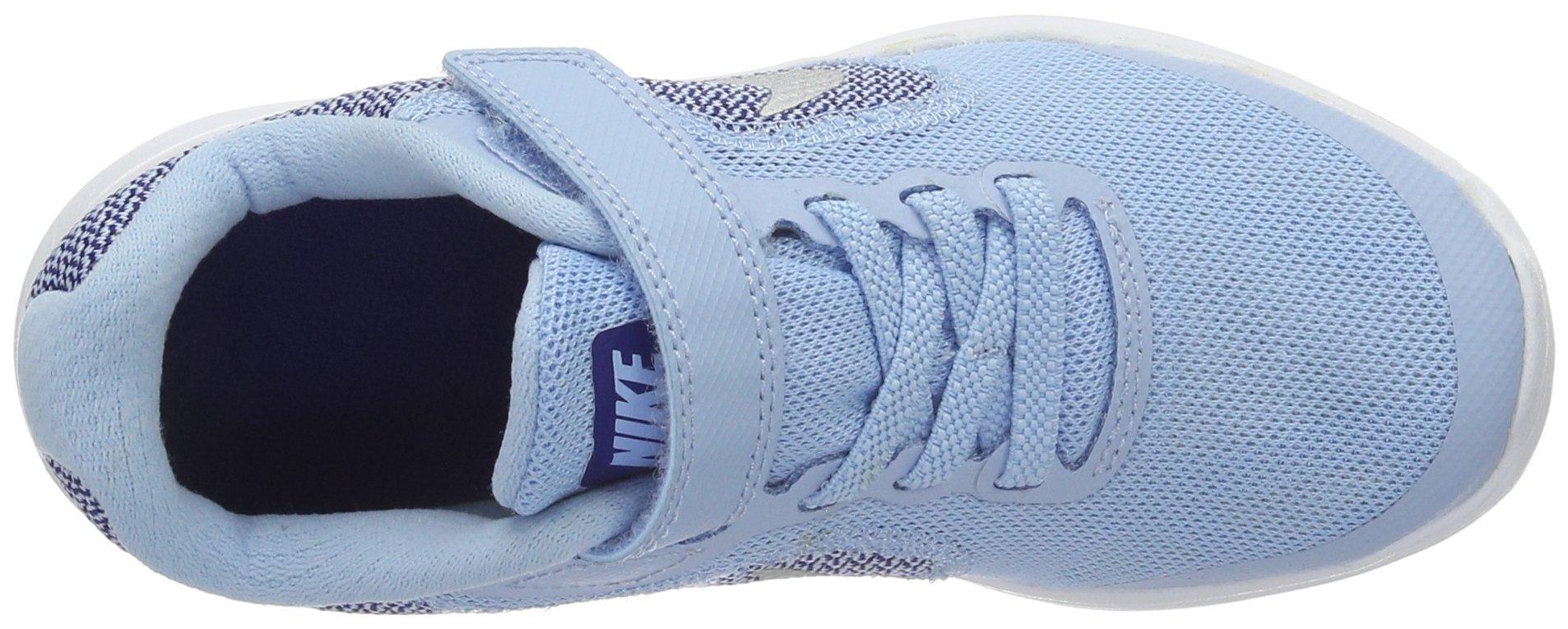 NIKE Kids' Revolution 3 (Psv) Running-Shoes, Bluecap/Metallic Silver/Deep Royal Blue, 1 M US Little Kid by Nike (Image #7)