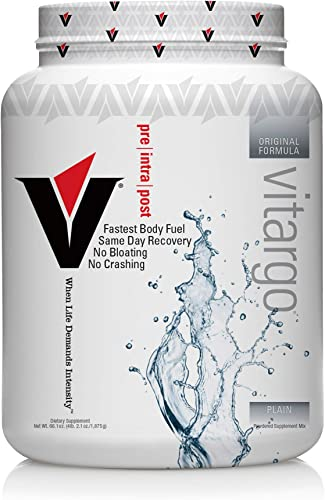 Vitargo Carb Powder Supplement 2X Faster Muscle Fuel 4.4 LB Unflavored Pre Workout Post Workout Carbohydrate Powder for Recovery, Endurance, Gain Muscle Mass