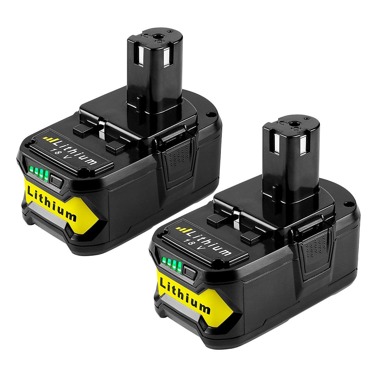Energup 2Pack 5.0Ah 18V Replacement Battery for Ryobi 18V Lithium Battery P102 P103 P105 P107 P108 P109 Ryobi ONE+ Cordless Tool