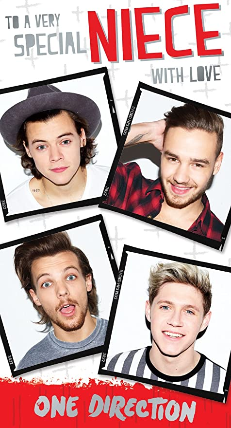 Amazon Official One Direction 1d Birthday Card Neice Toys