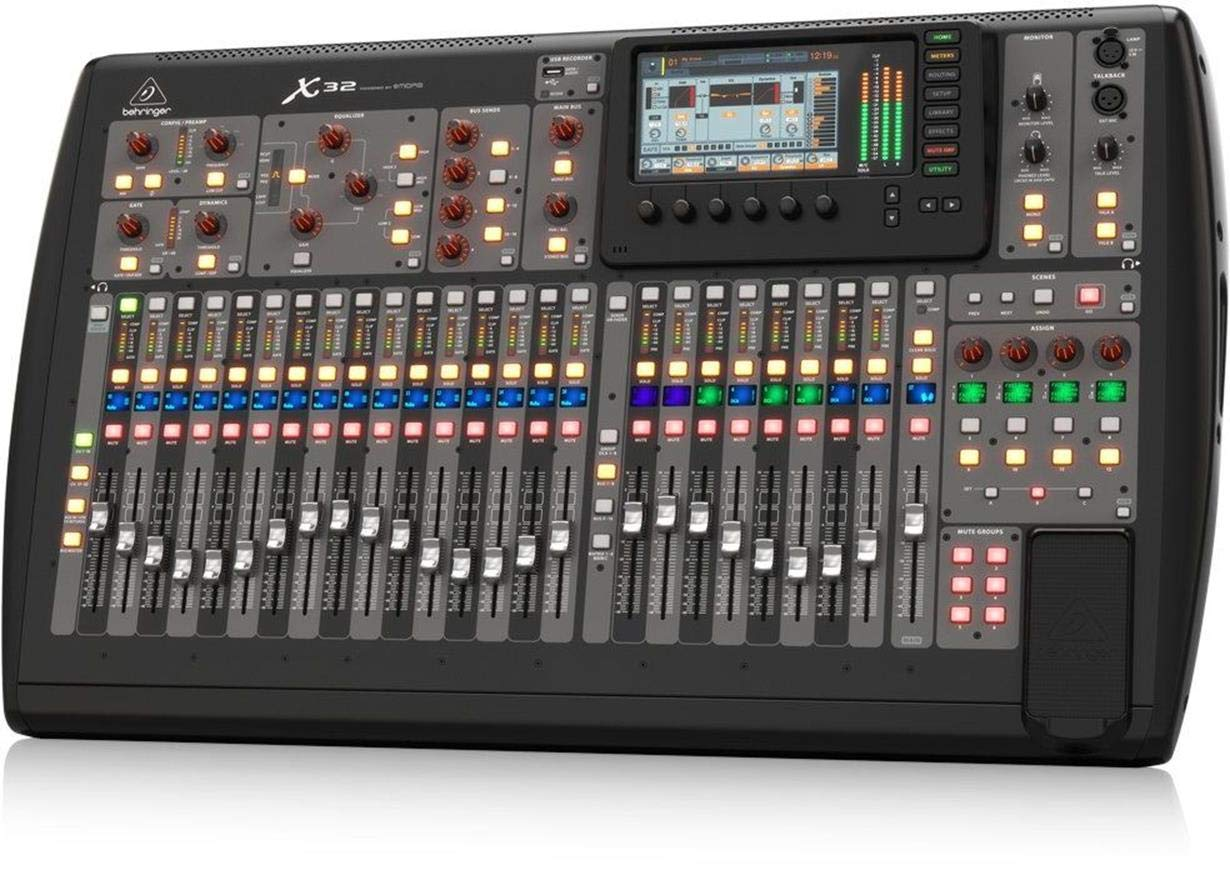 Behringer X32 Digital Mixer 32-Channel, 16-Bus Total-Recall
