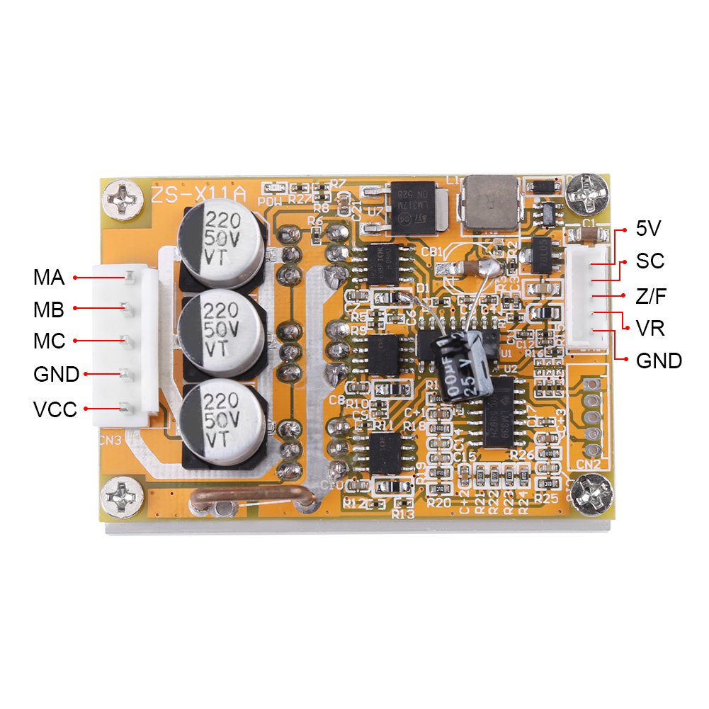 5v 36v 350w Wide Voltage 3 Phase Sensorless Bldc Motor Controller Threephase With Lowvoltage Control Circuit Relaycontrol Board Brushless Esc Driver Module Heatsink Diy Tools