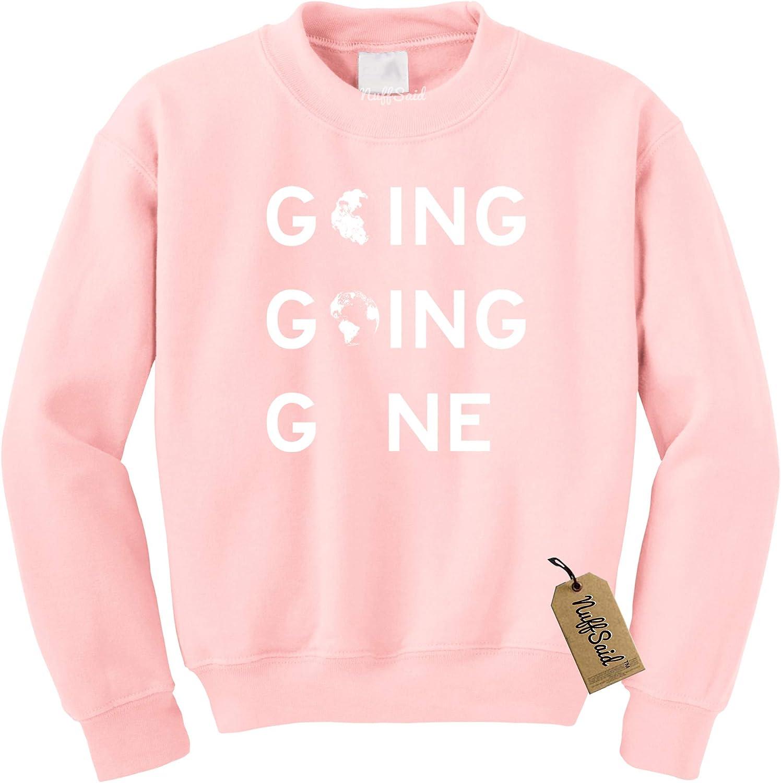Unisex Crew NuffSaid Going Going Gone Earth Day Crewneck Sweatshirt Design