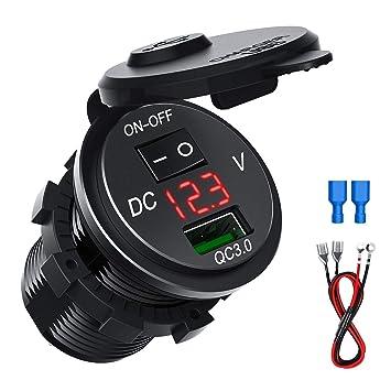 CHGeek - Cargador de coche USB resistente al agua, carga ...