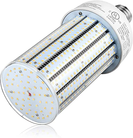 Led Corn Bulb 100w Led Cob Light E39 Mogul Base Replace 400w Metal Halide Hid Hps 13 442lm Daylight 5000k For High Bay Warehouse Garage Basement Street Area Parking Lot Lighting Retrofit Ul Listed
