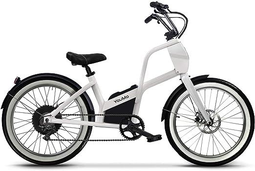 YouMo One City C - Bicicleta eléctrica, Color Crema: Amazon.es ...