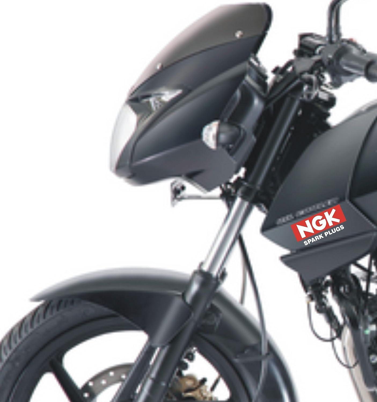Isee 360 ngk sticker bike sides stem visor helmet any car windows rear vinyl red and white pack of 2 amazon in car motorbike