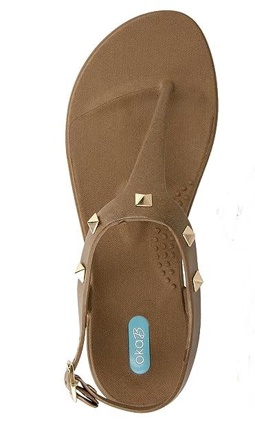 2424245fe08a33 Oka-B. Gretta Toffee Womens T-Strap Size 6M Brown