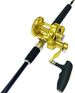 EatMyTackle Amberjack King Saltwater Jigging Rod and Reel Combo