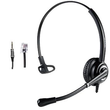 Rj11 Kristall Kopf Telefon Headset Mit Mikrofon Büroelektronik Telefone & Zubehör