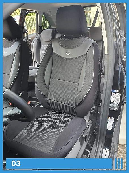 Ma/ß Sitzbez/üge kompatibel mit Nissan X-Trail T32 Fahrer /& Beifahrer ab BJ 2014 Farbnummer 910
