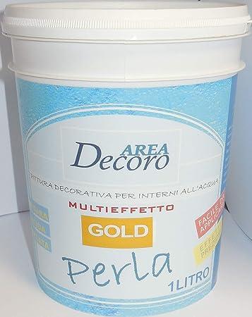 Perla Pittura Decorativa Per Interni Finitura Spugnato Gold Lt 1 Amazon It Fai Da Te