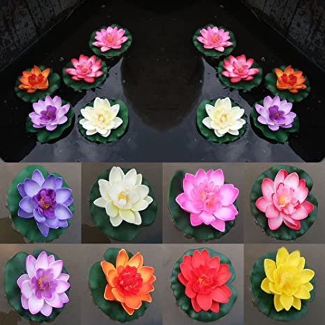 Foam Water Floating Plants Artificial  Flower Lotus Simulation Fake Plants