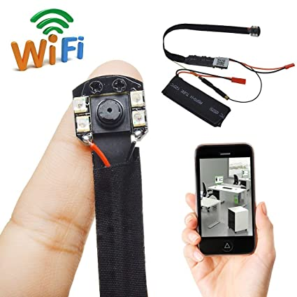 Cámara oculta Fivesky 1080P HD, Wifi, detección de movimiento,