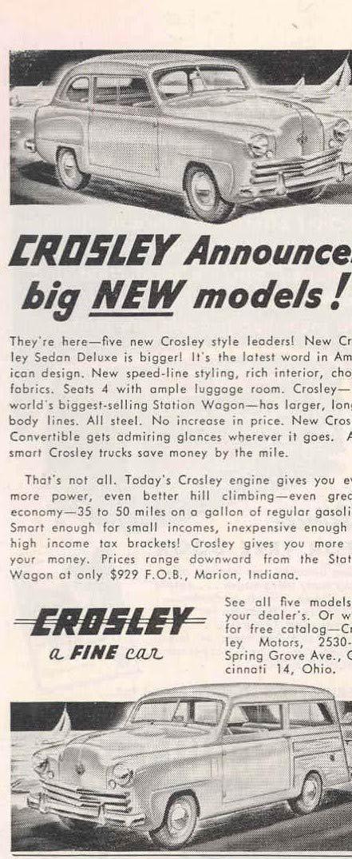 Amazon com: 1949 Crosley Magazine Ad Schult Travel Trailer