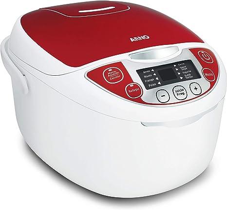 Panela Multicooker 12 Funções 5l Arno Branco/vermelho 220v: Amazon.com.br:  Cozinha