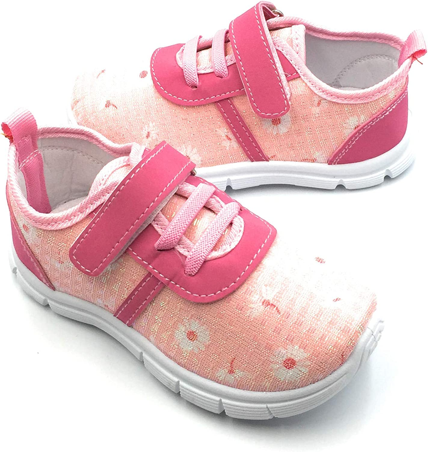 Bless Children Lightweight Girls Sneakers for Baby Toddler Kids Fashion Shoes,Pink506,7 M US Toddler