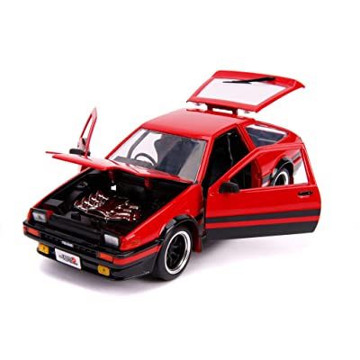 1986 Toyota Trueno (AE86) RHD (Right Hand Drive) Glossy Red and Black JDM Tuners 1/24 Diecast Model Car by Jada 99577: Toys & Games