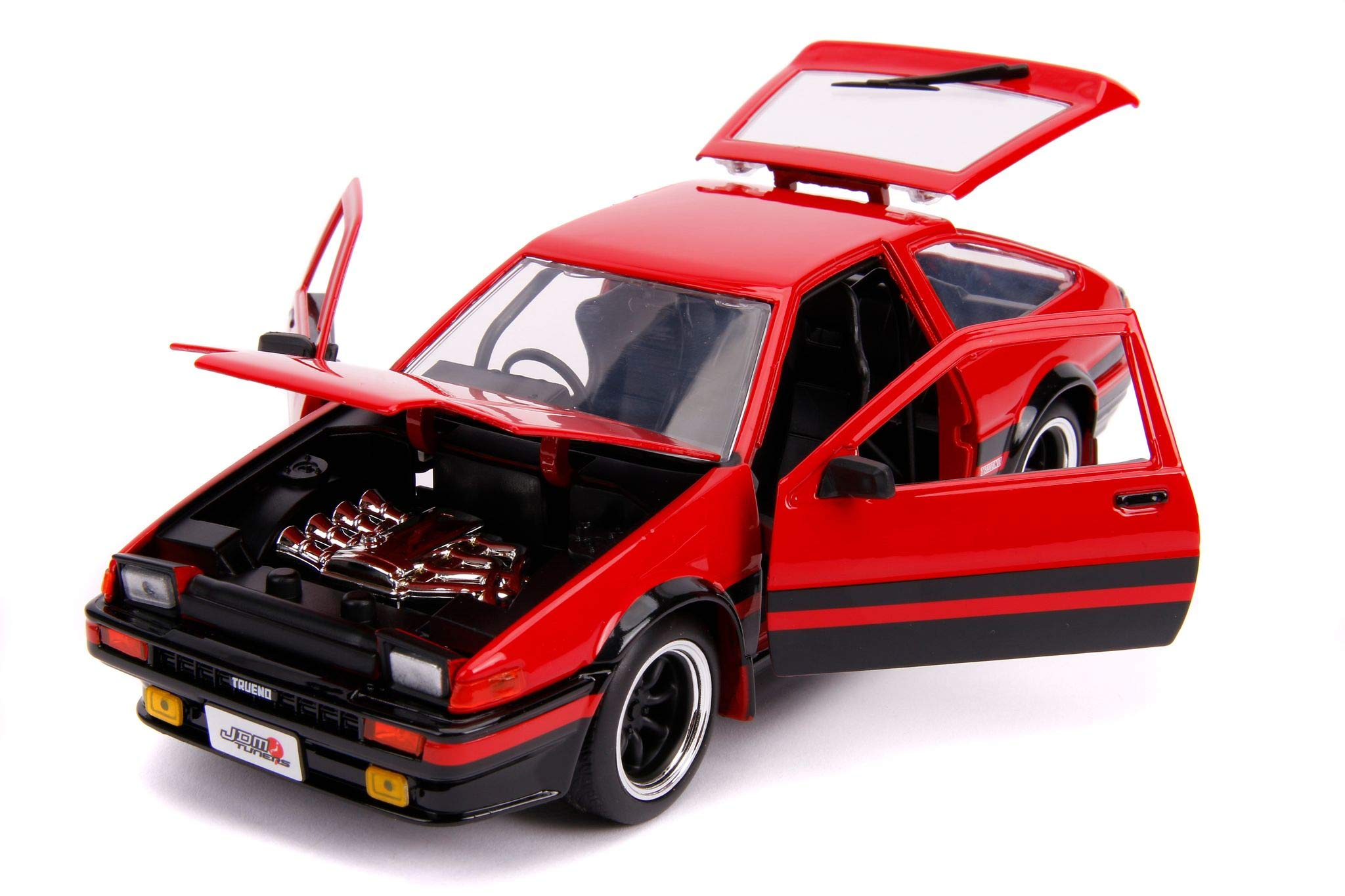Jada Toys JDM Tuners 1986 Toyota Trueno AE86 Die-cast Car Red, Toys for Kids and Adults