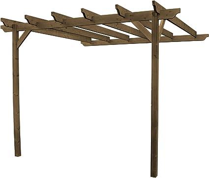 De madera jardín estructura Lean para pérgola – esculpido Rafter – 2 puestos