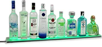 36 Long Made in The USA!! Armana Productions 3 Wall Mount LED Bottle Shelf and Display with Wireless Remote Control