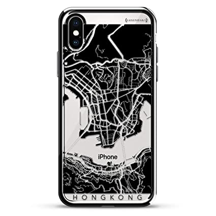 Hong Kong Streets Map Luxendary Chrome Series Designer Case For Iphone Xs X In Silver