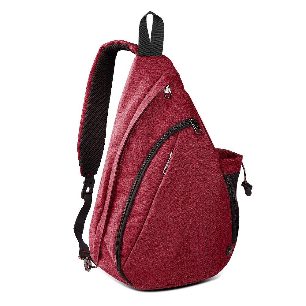 OutdoorMaster Sling Bag - Crossbody Backpack for Women & Men (Garnet Red)
