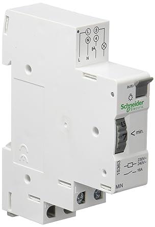 Schneider Electric 15363 Acti 9 Minutero MIN Temporizador Electromecánico Desde 1 a 7min, 68mm x 83mm x 18mm, Blanco: Amazon.es: Industria, empresas y ciencia