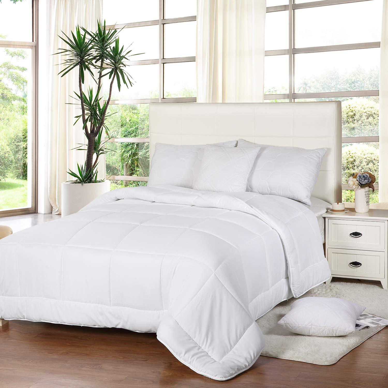 All Season Down Comforter Quilted Duvet Insert Box Style 250 Gsm Utopia Bedding Ebay