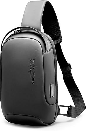 MARK RYDEN bolso bandolera hombre, impermeable bolso cruzado hombre, antirrobo, compatible con iPad 9.7 de Viaje para los Estudios, Viajes o Trabajo ...