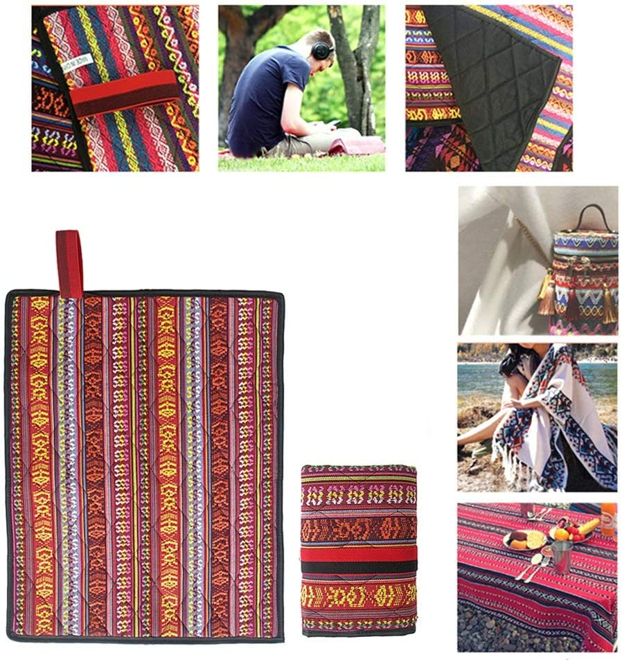 Large Mat for Camping or Travel Washable WAINEO Beach Blanket Sand Proof /& Outdoor Picnic Blanket Water Resistant Foldable(Random Color)