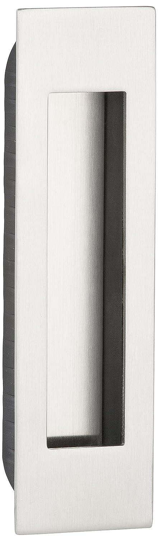 5 unidades Fabricado en la UE 155 x 45 mm Dise/ño de concha de mango de agarre GedoTec de entrada para puerta corredera de mango cuadrado de Luna de acero inoxidable cepillado mate