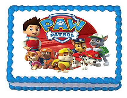Amazon Paw Patrol On Tour 1 4 Sheet Edible Frosting Photo