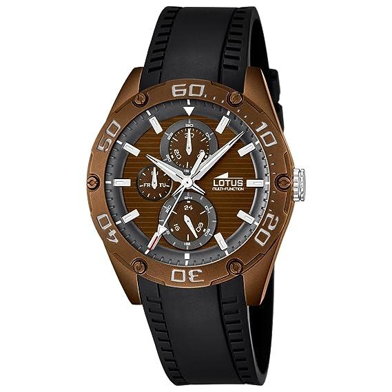 Lotus Reloj Analógico para Hombre de Cuarzo con Correa en Caucho 18183_3: LOTUS: Amazon.es: Relojes