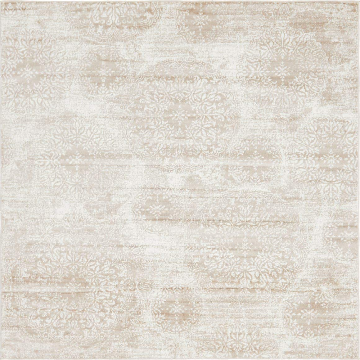 Unique Loom 3141518 Sofia Collection Traditional Vintage Beige Square Rug 8 0 x 8 0