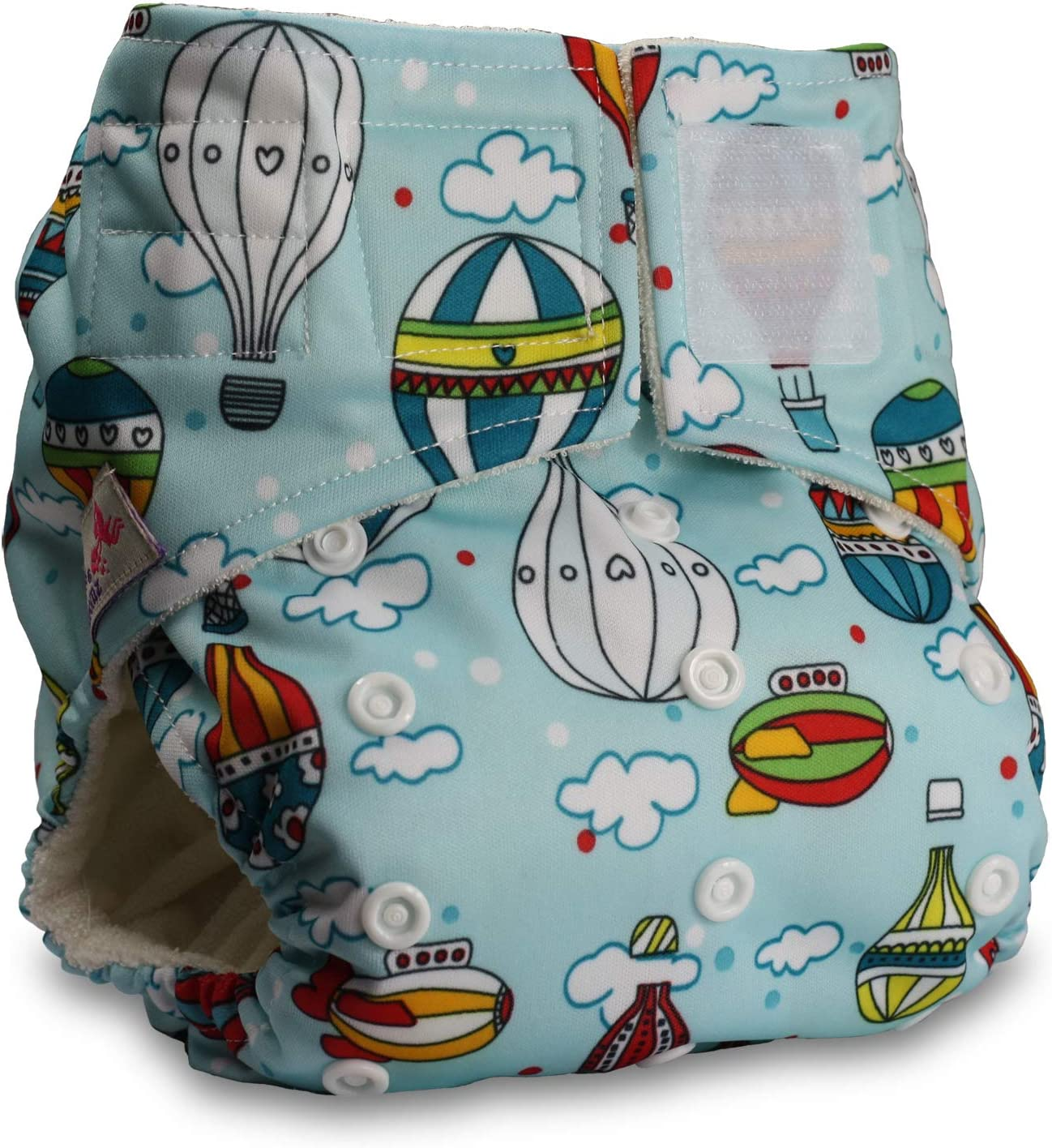Littles /& Bloomz Pattern 57 Baby Cloth Washable Reusable Nappy Pocket Diaper Bamboo Fastener: Hook-Loop with 1 Bamboo Charcoal Insert