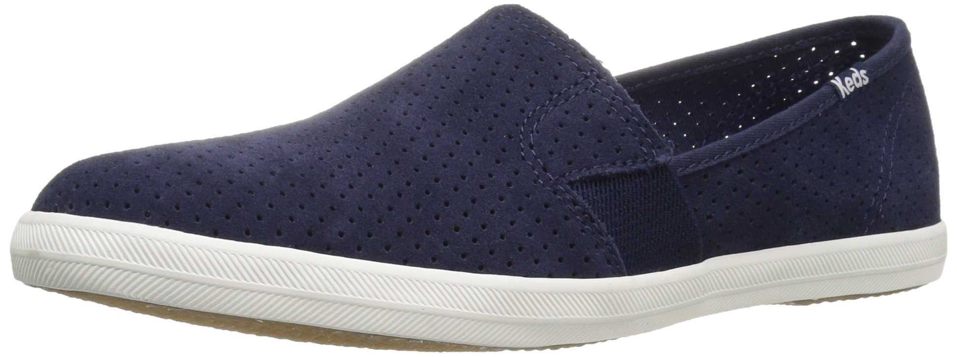 Keds Women's Chillax a-Line Perf Suede Fashion Sneaker, Peacoat Navy, 7 M US
