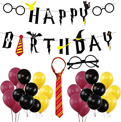 Amazon.com: Harry Potter Happy Birthday Banner Party ...