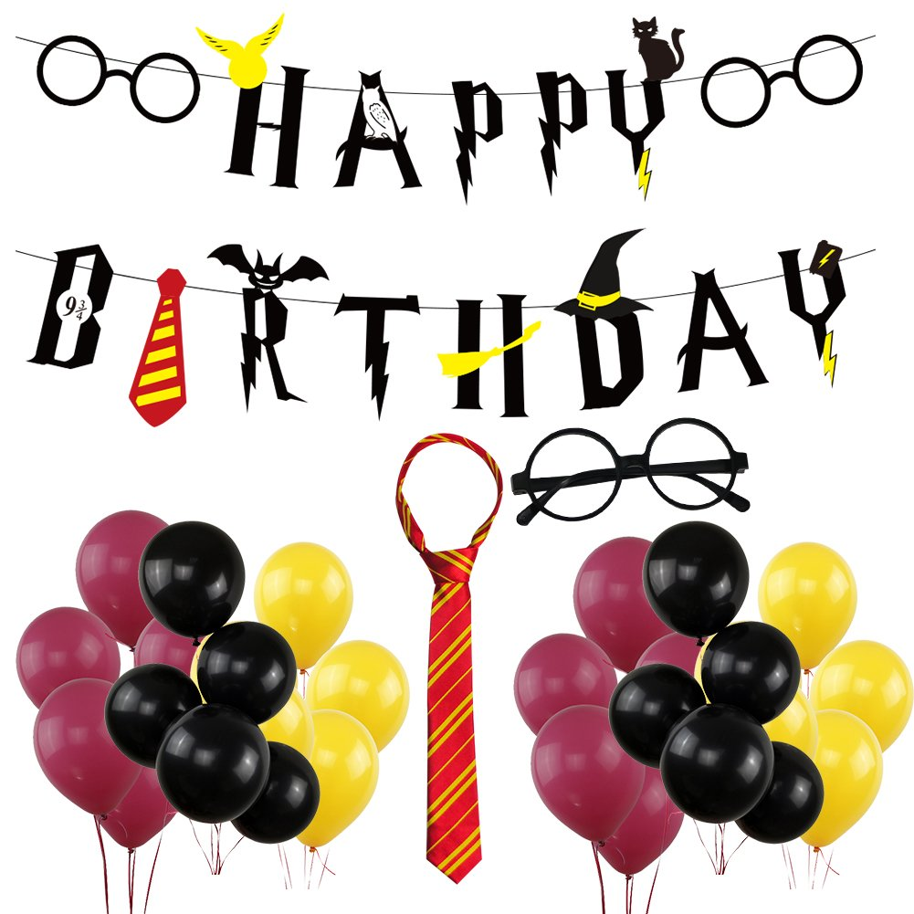 Harry Potter Happy Birthday Banner Party Supplies, Happy Birthday Harry Potter Themed Party Decorations