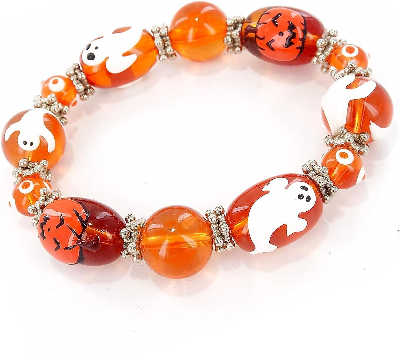 Halloween Bracelet Fall Jewelry Wish Bracelet Jack O Lantern Halloween Jewelry Pumpkin Bracelet Cord Bracelet