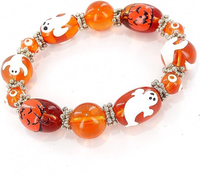 JACK-O/'-LANTERN/_Bead For European Charm Bracelet/_Halloween Pumpkin Scary Autumn