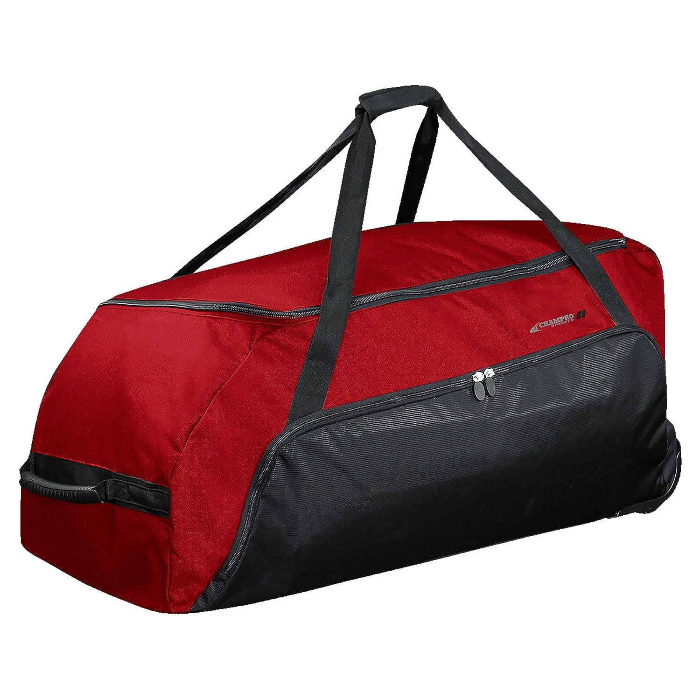 【驚きの価格が実現!】 Champroスポーツジャンボall-purpose Bag on Wheels, Wheels Sports B00JW1SZJQ Champro Sports Jumbo L All-Purpose Bag On Wheels, Scarlet, 36