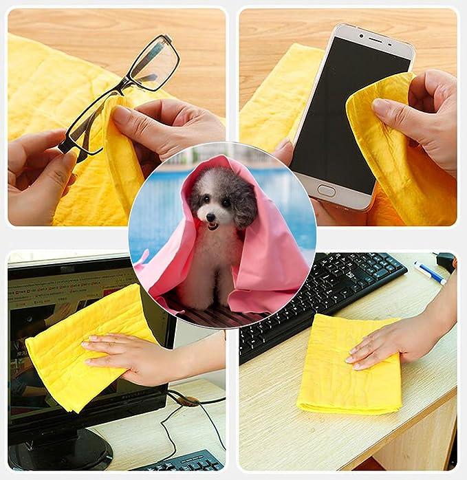 tpocean limpio Cham, Gran coche muebles pelo mascotas secado toalla de paño de limpieza toallitas (66 x 43 cm), 2 paquetes al azar): Amazon.es: Coche y moto