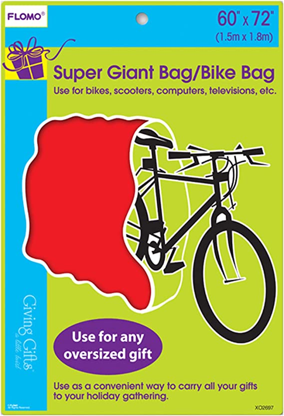 *Christmas Bike Bag 60 inches x 72 inches fits up to a 27 inch bike Snowman