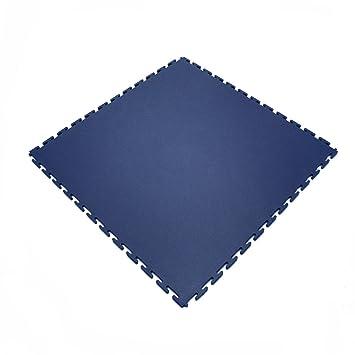 Klikflor Industrial K490 Interlocking Warehouse Gym Retail Garage Workshop Pvc Floor Tiles 4 Tiles Per M2 490 X 490 X 7mm Dark Blue