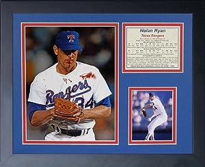 Legends Never Die Nolan Ryan Bloody Lip Framed Photo Collage, 11 by 14-Inch